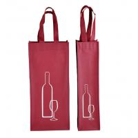 Wholesale custom promotional non woven wine bottle bags non woven tote bags supplier from china suppliers
