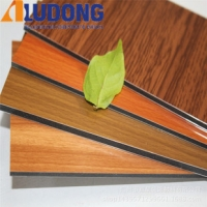 China Unbreakable 4mm Wooden Aluminum Composite Panel PVDF Coating wholesale