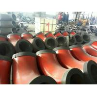 China sch80 red painted beveled ends steel tube elbows with end caps wholesale