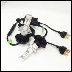 China H13 9004 9007 H4  High/Low 50W 8000LM G7 LED Headlight  LUXEON ZES Fanless 6500K H4 Car LED headlight headlamps wholesale