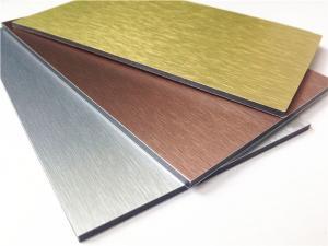 China 5mm ,3003 alloy,Brushed Aluminum Composite Panel wholesale
