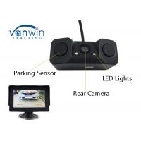 Buy cheap Night Vision reversing camera with 2 LED Car Rear View Camera + 2 Parking radar sensor from wholesalers