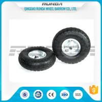 China Galvanized Color Pneumatic Rubber Wheels Steel Rim Ball Bearing 55mm Hub 3.50-4 wholesale