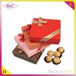 China Luxury handmade chocolate paper gift box with bowknot wholesale
