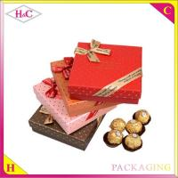 Buy cheap Luxury handmade chocolate paper gift box with bowknot from wholesalers