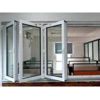 Quality White Safety Double Folding Glass Windows waterproof Coated With Grill for sale