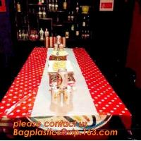 Colorful Polka Dot Table Cloth Plastic Tablecloth Cover for Wedding Birthday Party Supplies/Decoration BAGEASE BAGPLASTI