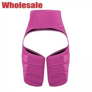 China Pink Elastic Waistband Waist Trainer Thigh Shaper Customized Logo wholesale