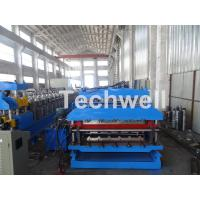 China 18 Forming Stations Roof Panel Roll Forming Machine , Double Sheet Roll Forming Machine wholesale