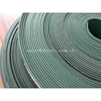 China Food Grade PVC Cleat 4mm Flat Rubber Conveyor Belting Durable Straight Grain wholesale