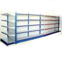 China Single, Double-sided Customized Wire Shelving Supermarket With Mesh Panel, Adjustable Feet wholesale
