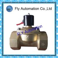 China DN100 4 Inch  Water Pressure Valves Threaded 2 Way Brass 2/2 way AC220V DC24V on sale