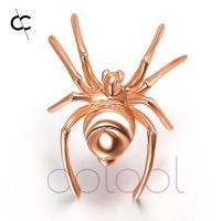 China Sterling Silver Spider Brooch Jewelry, Photo Engraved Jewelry on sale
