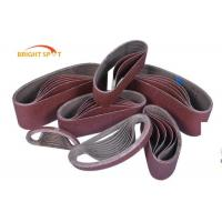 China 2 X 72 Ceramic Narrow Belt Sander Replacement Belts For Low Tensile Strength Materials wholesale