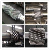 China High Alloy Steel Machined Forged Steel Shaft , ASTM BS Change Gear Shaft Forging wholesale
