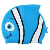 China Cartoon Shape Childrens Waterproof Swimming Caps Silicone Material Universal Size on sale