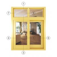 China Fireproof Small Double Aluminium Sliding Windows With Thermal Insulating Glass wholesale