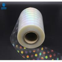 Quality High Shrinkage Rate Holographic Plastic Film With Laser Logo And Name for sale