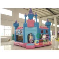 China Module Blue and Plnk Lovely Inflatable Bounce House Pentagon Castle For Kids Outdoor Play wholesale