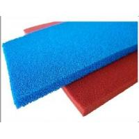 China Red Blue Silicone Sponge Sheet Food Grade Silicone Rubber Sheet Open Cell For Iron Table on sale