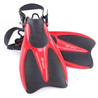China Red Black Skin Diving Fins Swimming Training with Open Heel Design wholesale