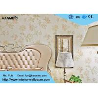China 0.53*10M Designer Natural Floral Non Woven Wallpaper Fabric Wall Covering on sale