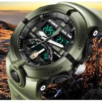China SYNOKE Men Dual Time 5 ATM Waterproof  Shock Resist PU Strap Fashion Outdoor Sports Watches  9478 wholesale