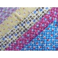 Buy cheap Classic Style Floral Flannel Fabric Waterproof Cotton Flannel Laminated Cloth from wholesalers