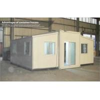 China Extended Foldable Storage Container House With Glass Sliding Door on sale