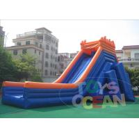 China 50M Giant Outdoor Inflatable Slides Hippo Security  Waterproof For Beach wholesale