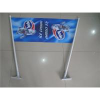 China Double Sides Shop Front Flags , End Sign Flags 80cm Length Pole wholesale
