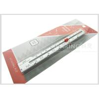 China 6inch / 12.7cm Aluminum Sewn Knitting Gauge With Screen Printing wholesale