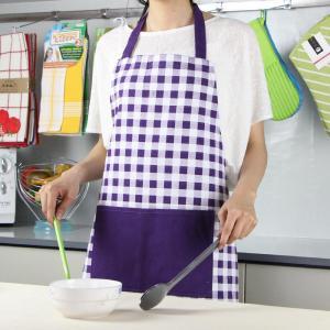 China Purple Color Small Checker Pattern Bib Style Home Kitchen Apron 70x80cm or Customized wholesale