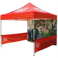 China Red 10x10ft Easy Folding garden Pop Up Gazebo Tent Dye Sublimation Printing wholesale
