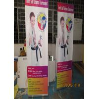 Quality Outdoor Trade Show Display Banners , Tabletop Retractable Banner Water Resistant Print for sale