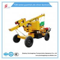 China tdb hot sale construction highway hydraulic pile driving machine for guardrail post installation wholesale