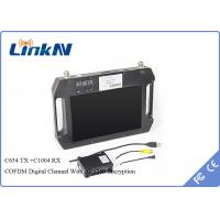 Buy cheap AES256 Encryption COFDM Receiver , wireless av transmitter receiver 10.1 Inch LCD Screen from wholesalers