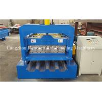 China 0.8 - 1.5mm Steel Deck Roll Forming Machine For Floor Decking Sheets wholesale