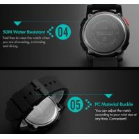 Quality Fashion Big Dial Men Multifunction Casual Wrist Watches 5 ATM Chrono Watches for sale