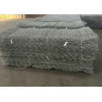 Buy cheap Hot Dipped Galvanized Gabion Wall Mesh / Stone Cage Wire Mesh Customized from wholesalers