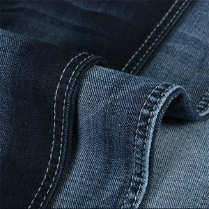 China Jersey Denim Jeans Fabric 9.2oz 160cm Width Reactive Dyeing With Terry Bottom on sale