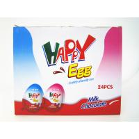 China Milk And Chocolate Chips Cookies Flavor Happy Egg In Box With a Lovely Toy on sale