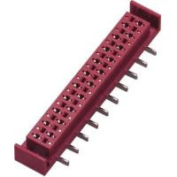 China PA46 1.27mm Red Micro Match Connector Female SMT  PBT With Latch wholesale