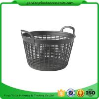 "China Flexible Small Outdoor Basket Planter 9-1/2"" in diameter x 8"" H overall wholesale"