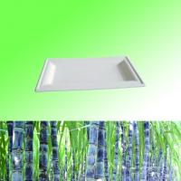 """Buy cheap 100% Sugarcane Bagasse pulp biodegradable disposable 6""""*10"""" rectangle plate from wholesalers"""