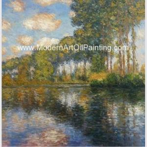 China Franmed Claude Monet River Paintings , Nature Landscape Painting Canvas wholesale