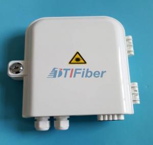 China FTTH 8 port PLC Fiber optic Splitter Box Wall pole Mounted Outdoor Distribution Box wholesale
