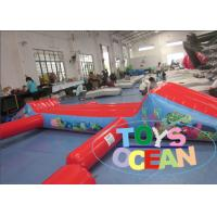 China Red Floating Inflatable Water Game Turtle Aqua Run For Swimming Pool wholesale