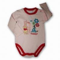 China Baby Rompers, Made of Cotton, Baby Body Suit/Romper, Available in Various Colors and Sizes wholesale