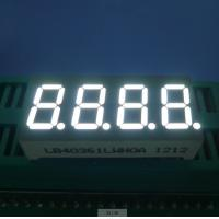 China RoHS Four Digit 7 Segment  Common Cathode Led Display White 0.36 Inch wholesale